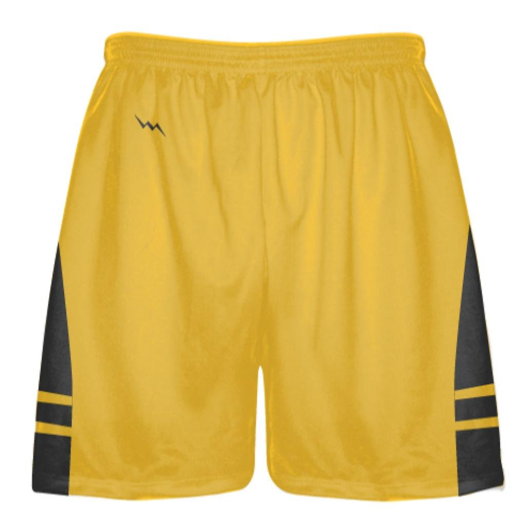 Youth Athletic Gold Dark Gray Boys Mens Lacrosse Shorts Youth Gold