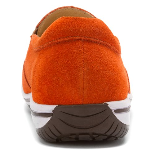 Alegria Mens Aaron Slip-On Orange Suede mtXMr