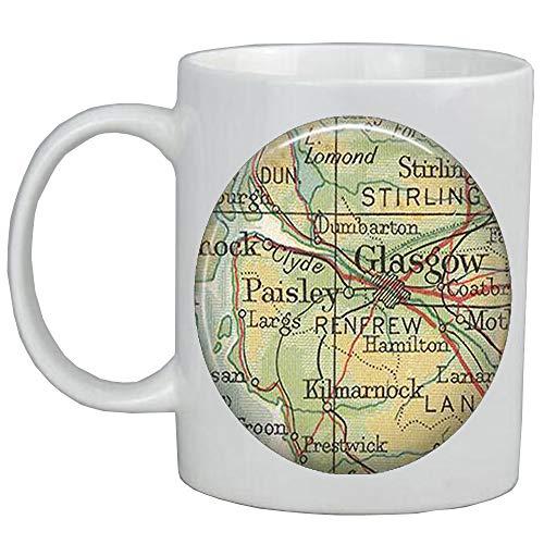 Fashion Coffee Mug,Glasgow map Mug,Glasgow map Coffee Mug,Glasgow Mug,Glasgow Coffee Mug,map jewelry,map jewellery,A0272