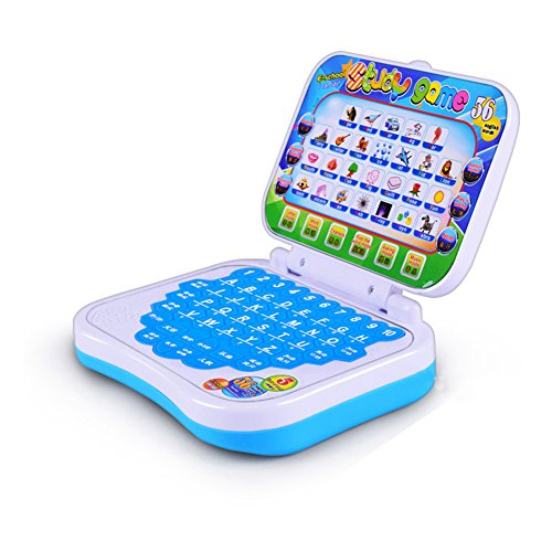 MOOUS Childrens Learning Laptop Kids Pre School Tablet Educational Computer Game Study Toy to Learn The Alphabet With Images Sound And Spelling Color Random (Random Color)