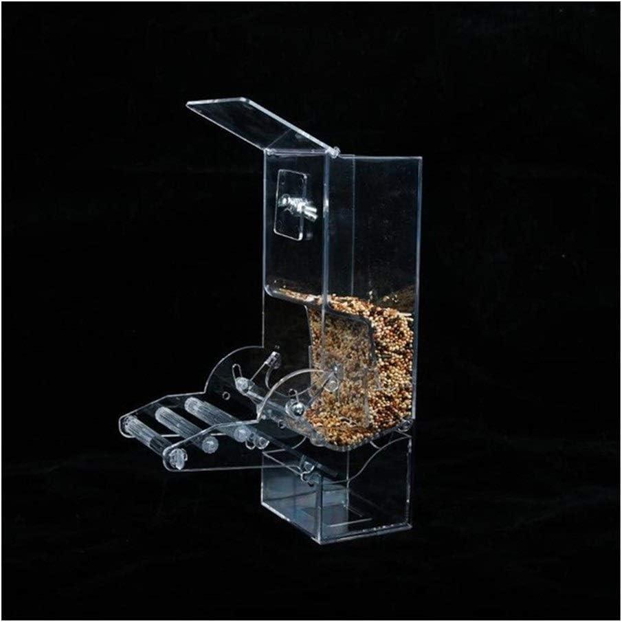 MAXIAOQIN MXQIN Periquito Canarias pájaro del Loro automático del alimentador del pájaro del Loro la semilla de Alimentos Bird Box Accesorios Jaula Can Make Your Pet Bird Eat Better (Color : A)