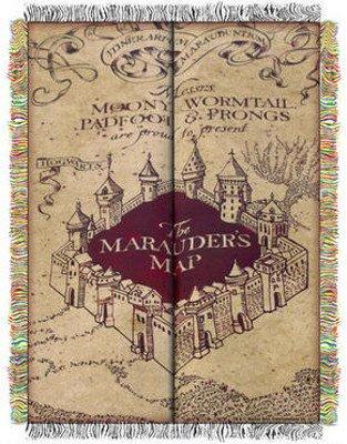 Harry Potter Marauder's Map 48 x 60 Inch Throw Blanket