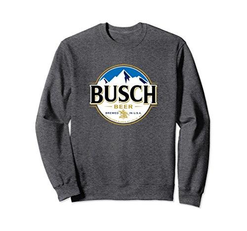 Beer Sweatshirt (Unisex Busch Beer Logo Sweatshirt Medium Dark Heather)