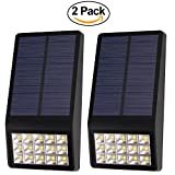 UBEQEO 2 PACK SOLAR LED LIGHTS OUTDOOR LAMP WALL MOUNT ACCENT DECORATIVE PATHWAY LIGHTING WITH MOTION SENSOR SYSTEM
