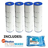 jandy filter cartridges - 4 Pack Pleatco Cartridge Filter PJAN85-PAK4 Pack of 4 Jandy CL340 A0557900 w/ 1x Filter Wash