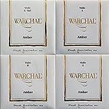 Warchal Amber Violin Strings 4/4 Set, Ball End E