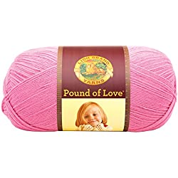 Lion Brand Yarn 550-102 Pound of Love Yarn, Bubble Gum