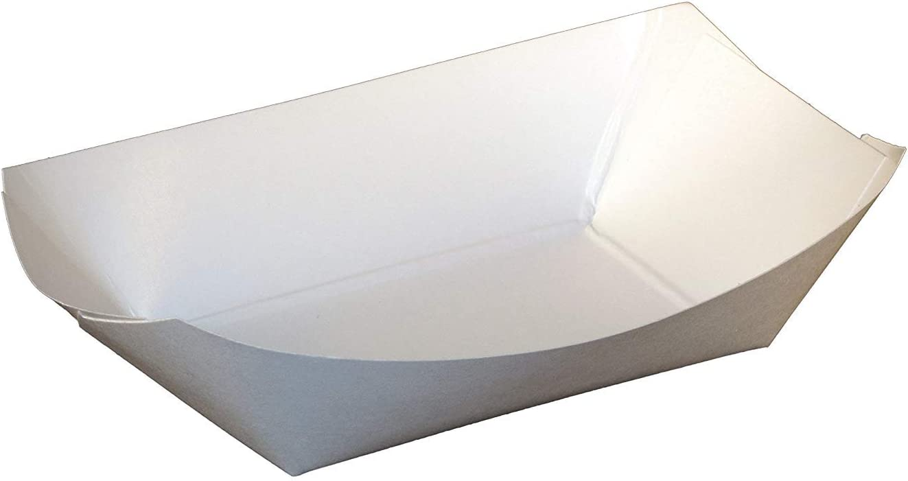 9050 SQP Paper 1/2lb White Food Tray 1000 per case