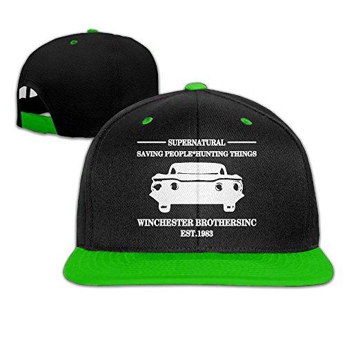 QING-CC Supernatural Women/Men Flat Brim Hip Hop Baseball Caps