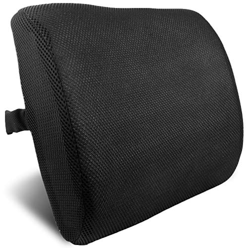 bogo Brands Lumbar Back Support Cushion Pillow for Backrest in Office Chairs and Car (Med Cervical Roll)