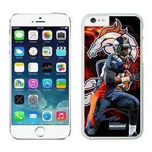 Denver Broncos Von Miller Case For iPhone 6 White 4.7 inches
