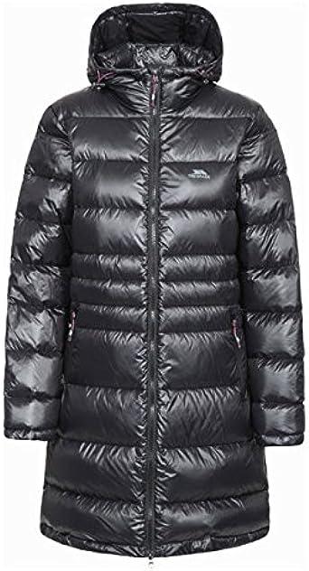 Trespass Reeva Womens Down Parka Jacket Warm Long Coat with Fur Hood
