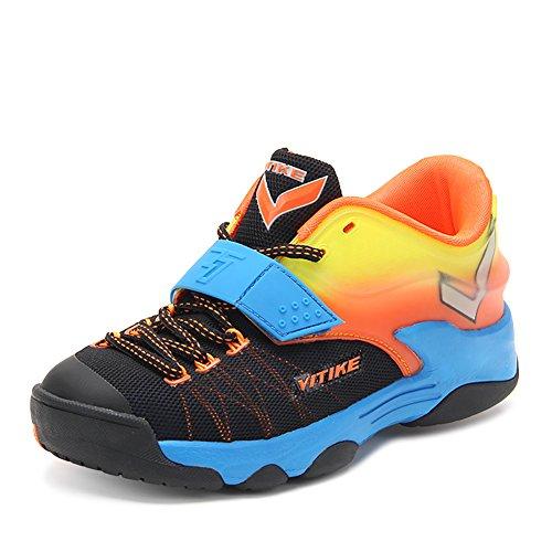 Zapatillas de baloncesto infantil Zapatillas de baloncesto deportivo Transpirable Zapatillas de baloncesto antideslizante Zapatillas deportivas Naranja