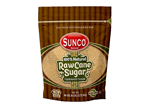 (Sunco Natural Raw Sugar, Natural Raw Cane Sugar, Turbinado Sugar, Demerara Sugar 6 Lb Bulk (Pack of 1 (6 Lb)))