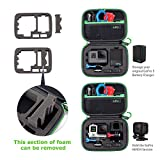 Carrying Case for GoPro Hero 6,5, 4, Black, Silver, 3+, 3,Hero(2018) and Accessories,HSU Protective Security Bag, Storage Solution for Adventurers-Upgraded Interior Foam