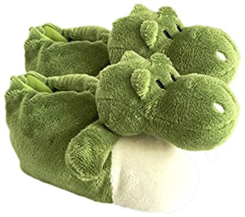 Peluches Cel - Zapatillas cocodrilo de Peluche, Color Verde (MAE 258cocodrilo)