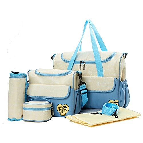 Skinly - Bolsa de pañales para mujer, color azul (5 piezas)