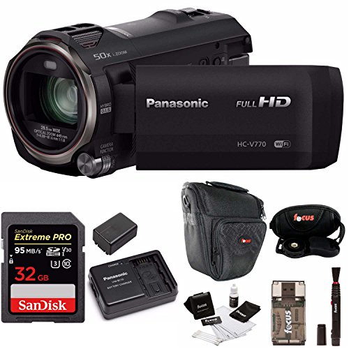 Panasonic HC-V770 HD Camcorder Wireless Smartphone Twin Vide