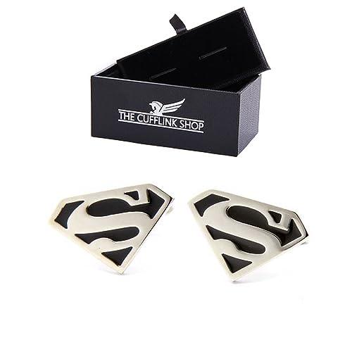 Superhéroe Superman mancuernas negras - caja de regalo de lujo ...