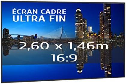 KIMEX 044-6015 Pantalla de proyección fija con marco ultrafino 260 ...
