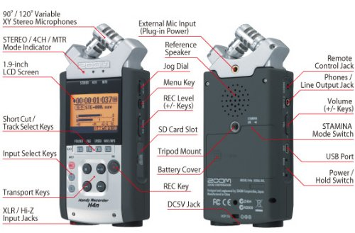 Zoom H4N Handy Portable Digital Recorder - 2009 Version (Zoom H4n Recorder)