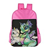 Unicorn And Dragon School Backpack For Girls Boys Cute Bookbag Outdoor Daypack