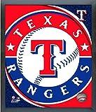 "Texas Rangers MLB Team Logo Photo (Size: 12"" x 15"") Framed"