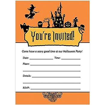 Amazon Com 25 Halloween Party Invitations With Envelopes