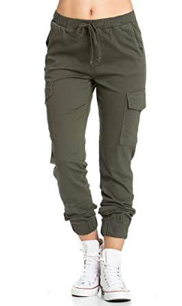 official price best authentic amazing quality Women's Drawstring Soft and Comfy Cargo Olive Jogger Pants
