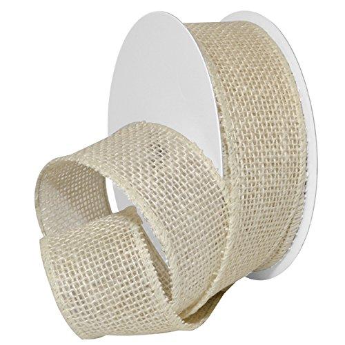 Morex Ribbon Burlap Wired Ribbon, 1.5
