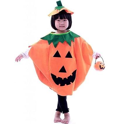 PIXNOR Bambini vestiti di Halloween Costume zucca + berretto (arancione) 1e0607f5fe59