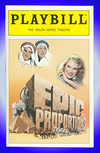 Epic Proportions, Crevice Night Broadway Playbill + Kristin Chenoweth, Tom Beckett, Jeremy Davidson, Alan Tudyk, Ross Lehman, Richard B. Shull, Ruth Williamson, Richard Ziman