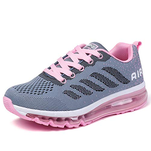 smarten Sportschuhe Herren Damen Laufschuhe Unisex Turnschuhe Air Atmungsaktiv Running Schuhe mit Luftpolster