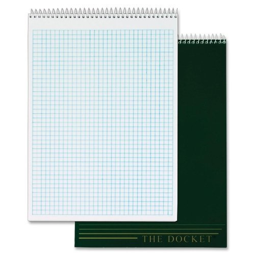 Wholesale CASE of 20 - Tops Docket Top Wire Quadrille Pad-Quadrille Pad, 8-1/2''x11-3/4'', 70 Shts,4 Squares Per Inch,WE