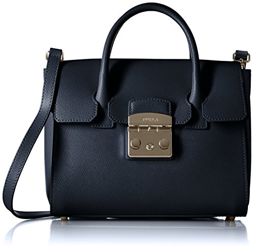 Furla Womens Metropolis Small Satchel Satchel Blue for sale  Delivered anywhere in USA