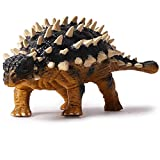 Kolobok Dinosaur Toys Park - Ankylosaurus - Jurassic Action Figures Herbivore - Dino World Model - Black Yellow