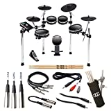 alesis dm10 drum module - Alesis DM10 MKII Studio Kit Nine-Piece Electronic Drum Kit with Mesh Heads + On Stage Clamp-On Drum Stick Holder DA100 + 5A Drum Sticks + TRS Stereo Cable + RCA Adapter Cable – Complete Bundle