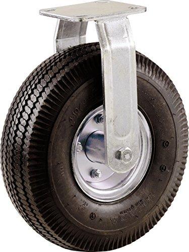 9795 Rueda de rueda neumática de 8 pulgadas, placa rígida, cubo de acero con rodamientos de bolas, capacidad de carga de 220 libras - - Amazon.com