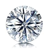 VAN RORSI&MO Moissanite DF Colorless Simulated Diamond Loose Stone Round Brilliant Cut Excellent Cut VVS Clarity(2.0ct)