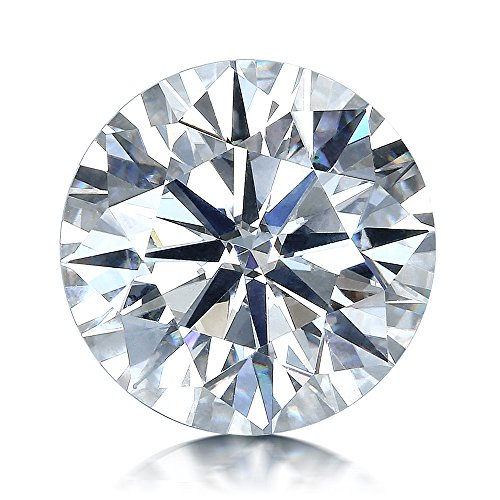 VAN RORSI&MO Moissanite DF Colorless Simulated Diamond Loose Stone, Round Brilliant Cut Excellent Cut VVS Clarity2.0ct