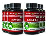 Lung health products - PREMIUM GRAVIOLA EXTRACT 650 Mg - Soursop leaves capsules - 6 Bottles 600 Capsules