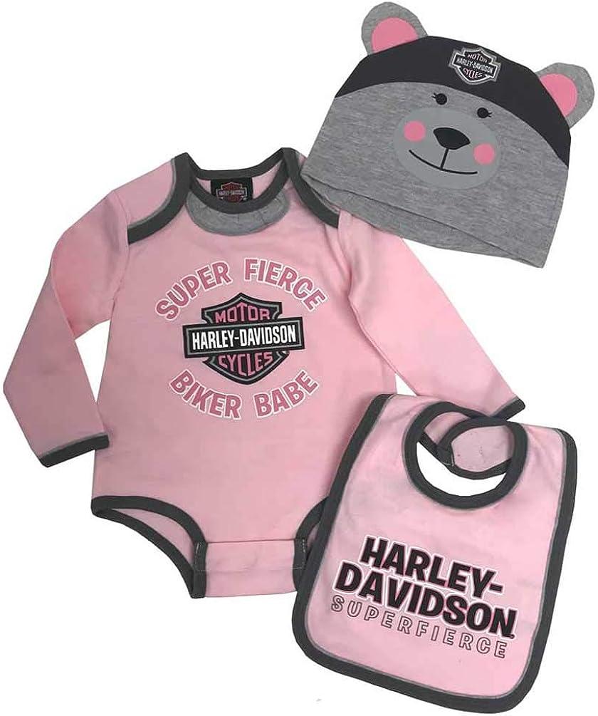 Harley-Davidson Baby Girls Glittery Creeper w//Mesh Tattoo Sleeves 3000611