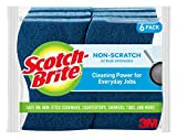 Scotch-Brite Non-Scratch Scrub Sponges, Cleans Fast without Scratching, Lasts 50% Longer than the Leading National Value Brand, 6 Scrub Sponges