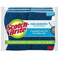 Scotch-Brite Non-Scratch Scrub Sponges, Lasts 50% Longer than the Leading National Value Brand, 6 Scrub Sponges