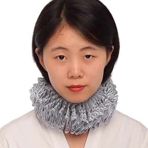 BLESSUME Renaissance Elizabethan Neck Ruff Collar Ruffled Collar