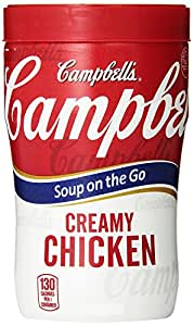 Campbell's Soup on the Go, Creamy Chicken, 10.9 Ounce (Pack of 8)