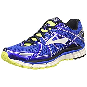 Brooks Men's Adrenaline Gts 17, Electric Brooks Blue/Black/Nightlife, 11 D-Medium