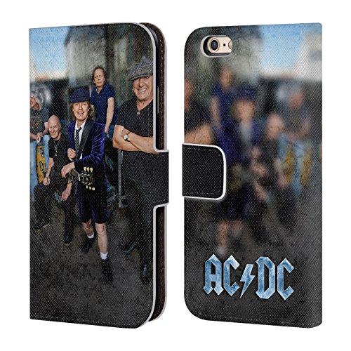 Officiel AC/DC ACDC Garage Photo De Groupe Étui Coque De Livre En Cuir Pour Apple iPhone 6 / 6s
