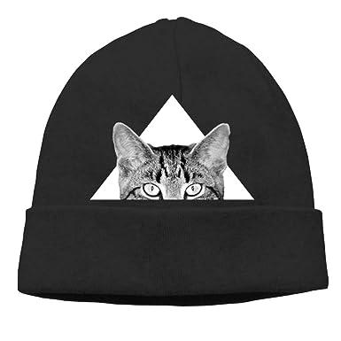 Amazon.com: Triangle Gato Gato Gorro para Mujer Gorro Gorro ...