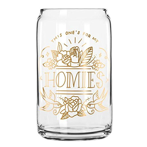 Easy, Tiger Beer Glass with Foil, Gold